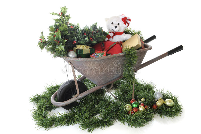 Download Barrow Full Of Christmas Stock Images - Image: 27151554