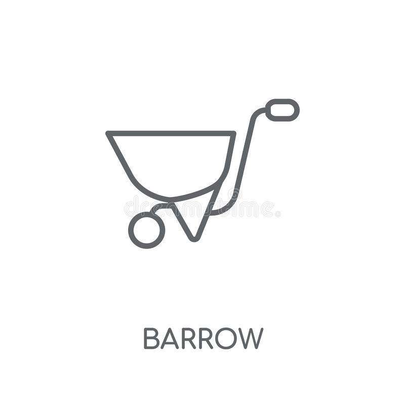 Barrow linear icon. Modern outline Barrow logo concept on white vector illustration