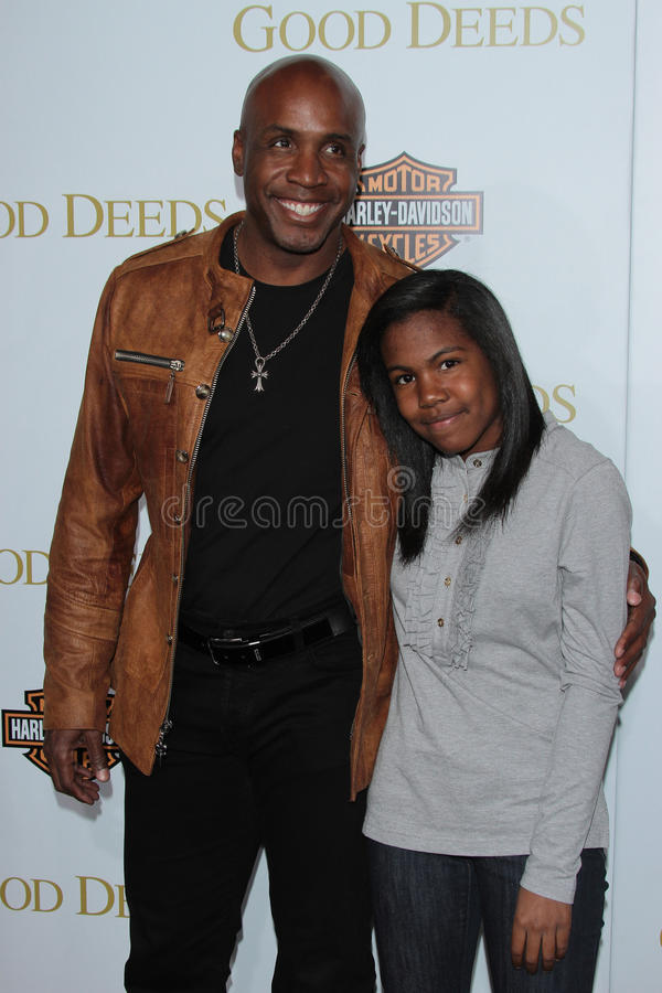 Barry Bonds. And Daughter at Tyler Perry's Good Deeds Los Angeles Premiere, Regal Cinemas, Los Angeles, CA 02-14-12 royalty free stock photo