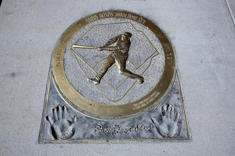 Download Barry Bonds Home Run Plaque Editorial Stock Image - Image: 28299354