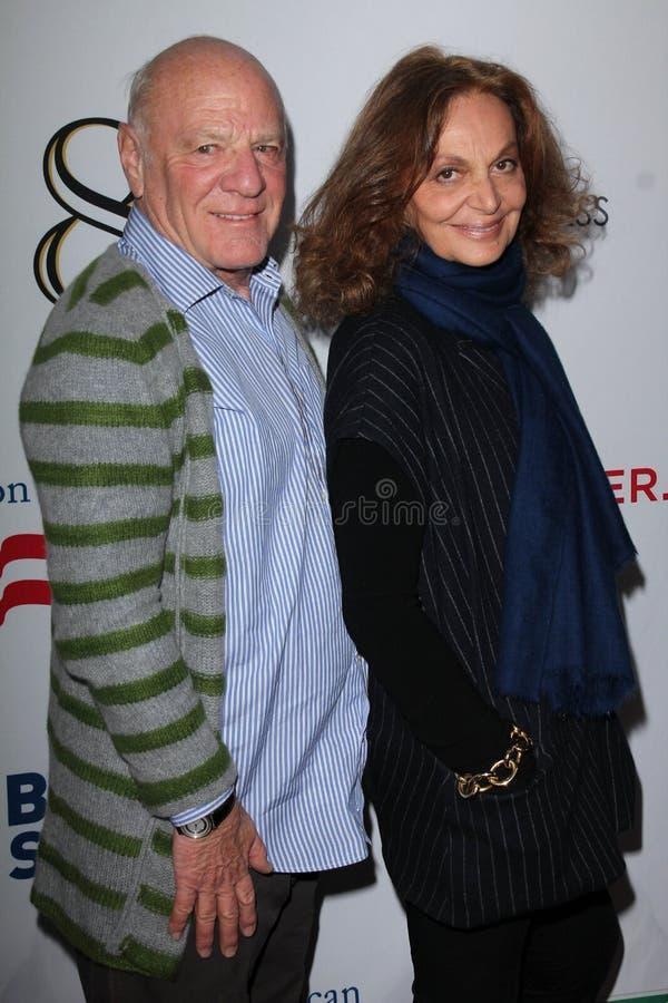 Barry Diller, Diane Von Furstenberg royalty free stock photography