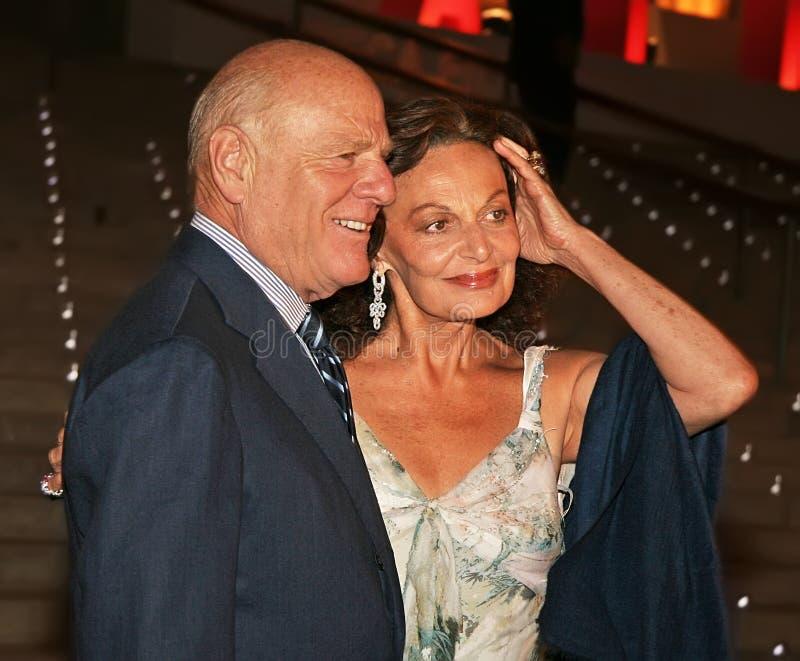 Barry Diller y Diane von Furstenberg fotografía de archivo