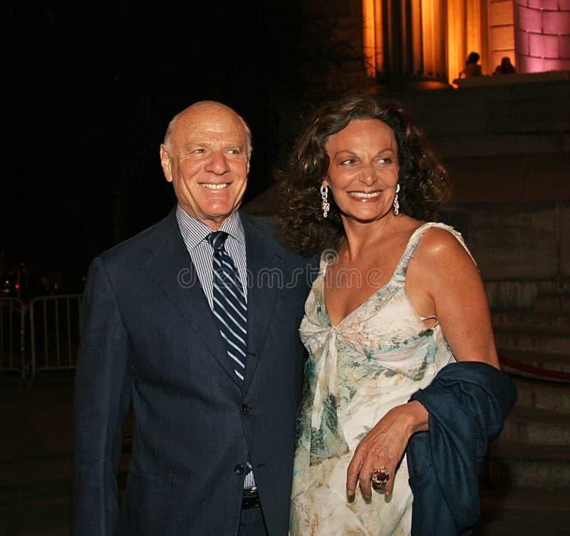 Barry Diller y Diane von Furstenberg fotos de archivo