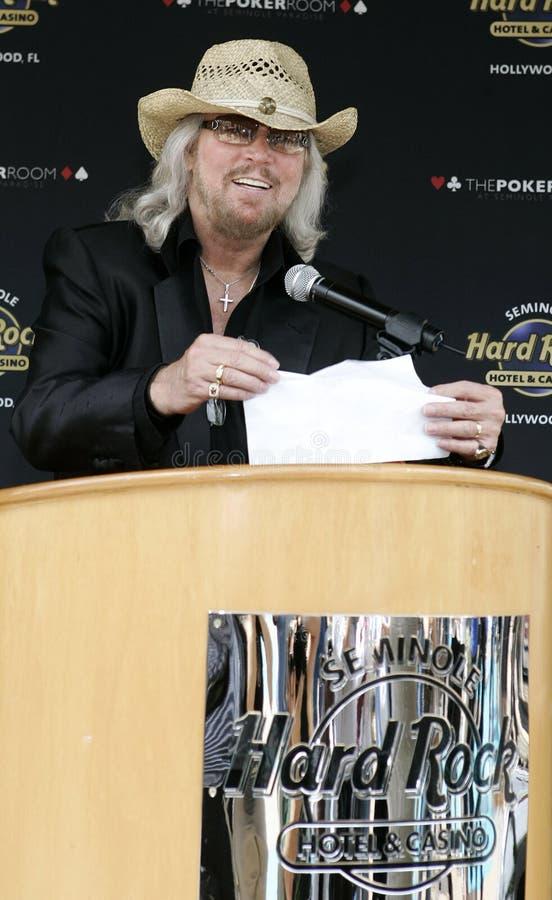Barry Gibb Kicks Off Poker Tournament imágenes de archivo libres de regalías