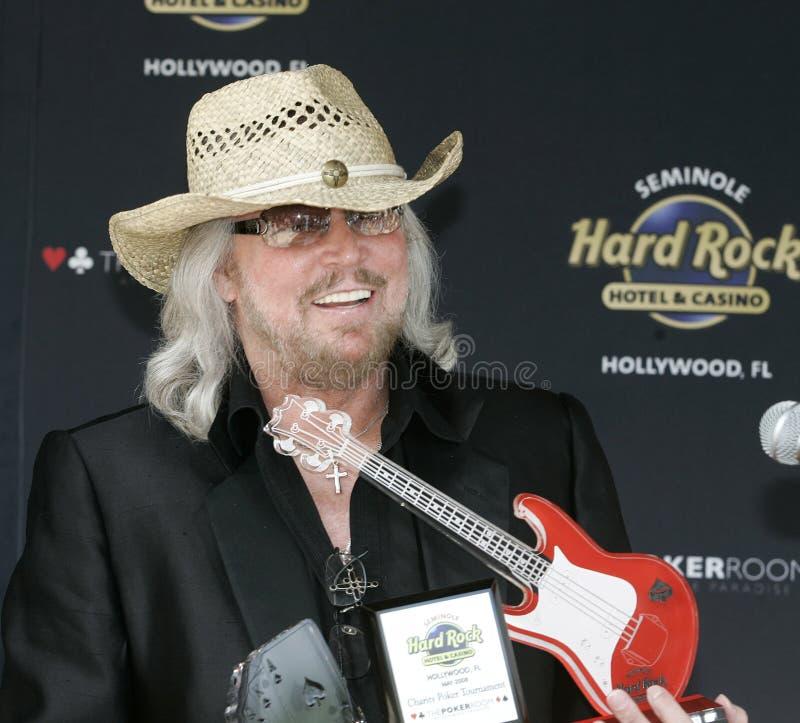 Barry Gibb Kicks Off Poker Tournament foto de archivo libre de regalías
