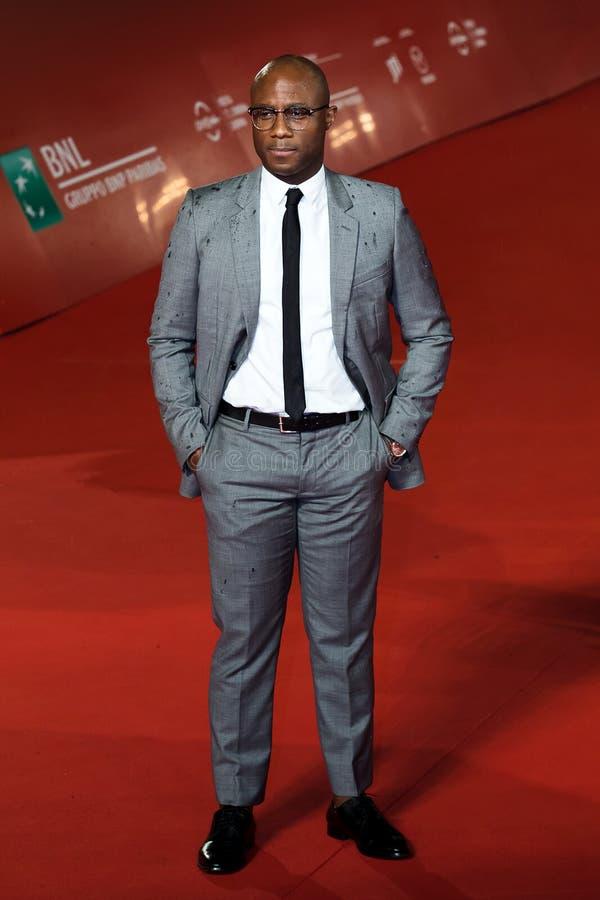 Barry Jenkins camina la alfombra roja el décimotercero Fest de la película de Roma foto de archivo