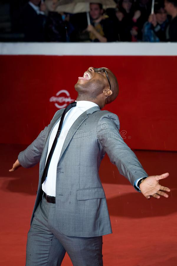 Barry Jenkins camina la alfombra roja el décimotercero Fest de la película de Roma foto de archivo libre de regalías