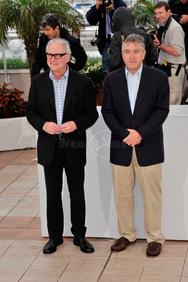 Barry Levinson, Robert De Niro lizenzfreie stockfotos
