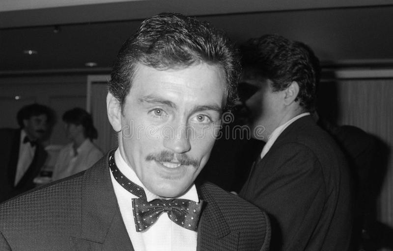 Barry McGuigan. Irish boxer and former World featherweight champion, at a celebrity event in London on October 18, 1990 royalty free stock photo