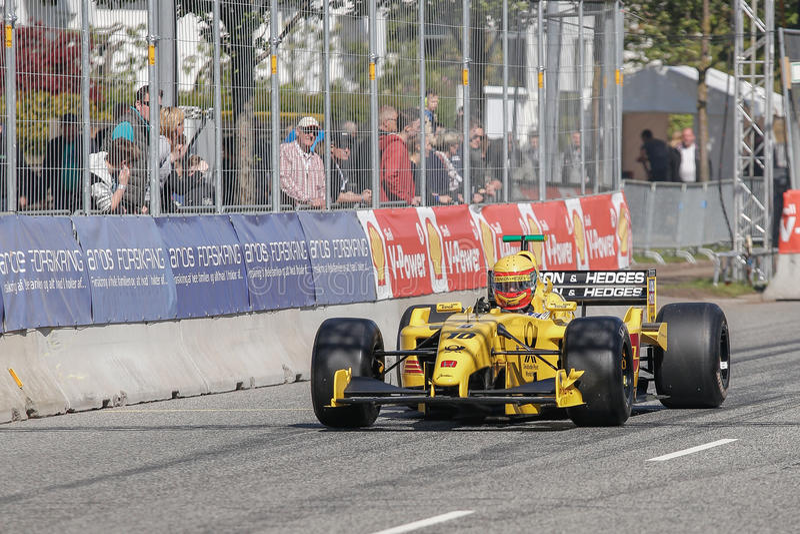 Barry Walker in einer Formel 1 Jordaniens EJ12 stockfotos