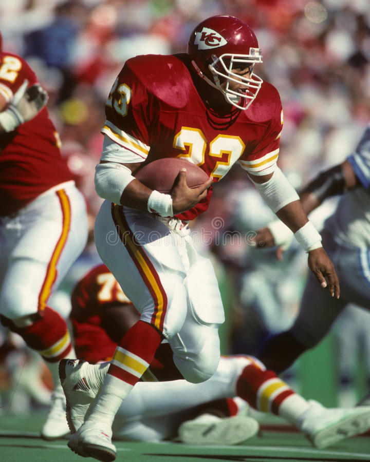 Barry Word. Kansas City Chiefs RB Barry Word. Image taken from a color slide stock images