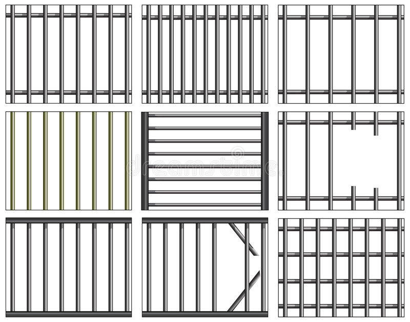Download Bars stock vector. Image of prison, jailhouse, jail, cage - 1965865