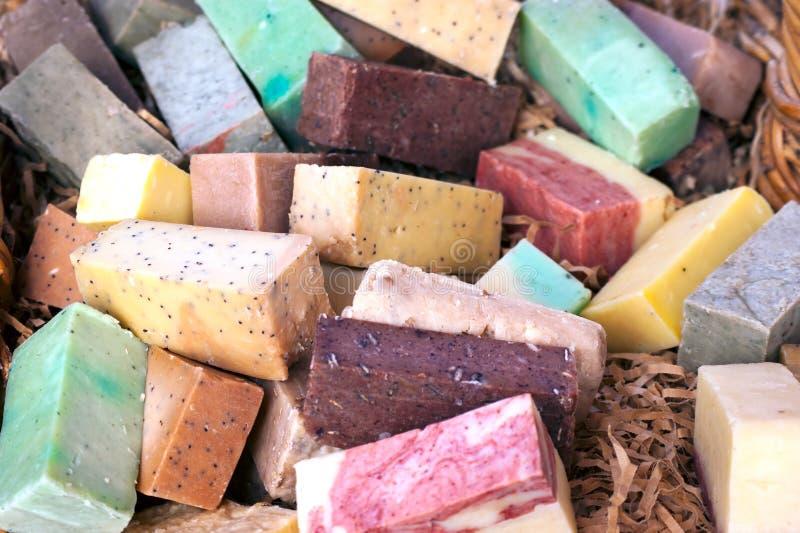 Bars colorés de savon photo libre de droits