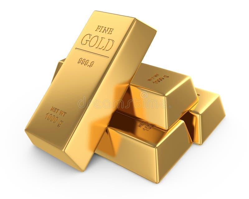 Bars d'or illustration de vecteur