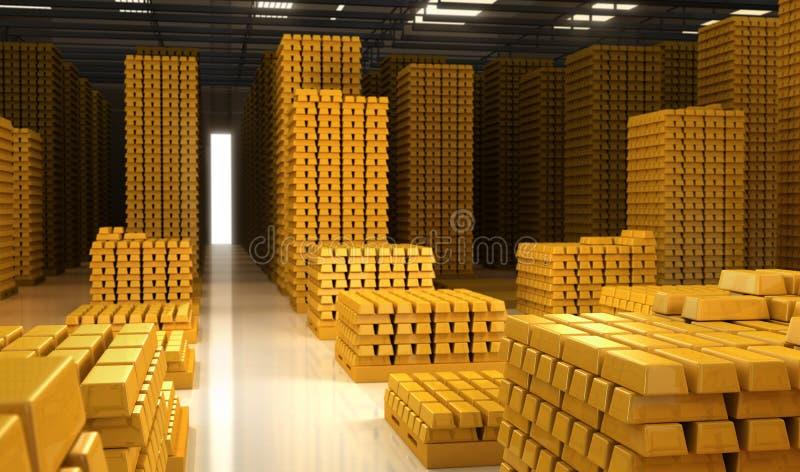 Bars d'or illustration libre de droits