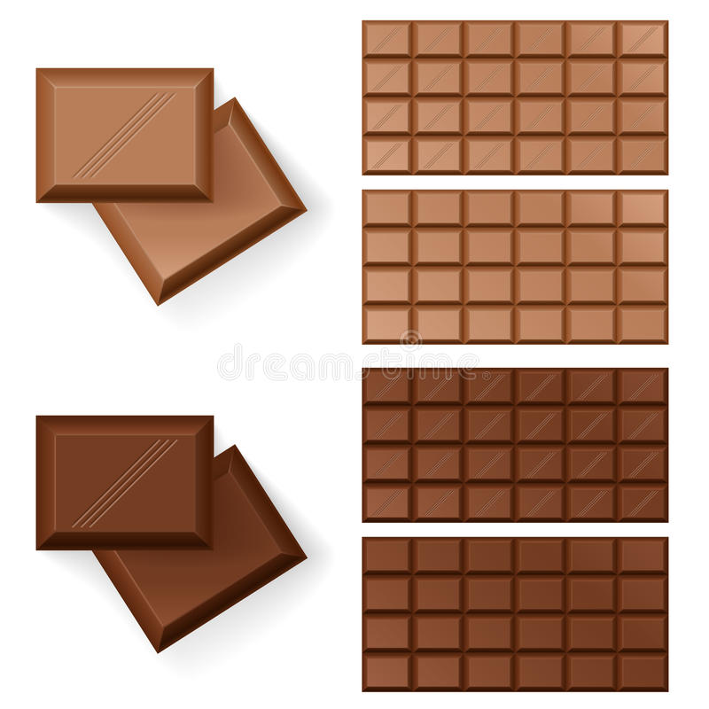 Bars de chocolat illustration stock