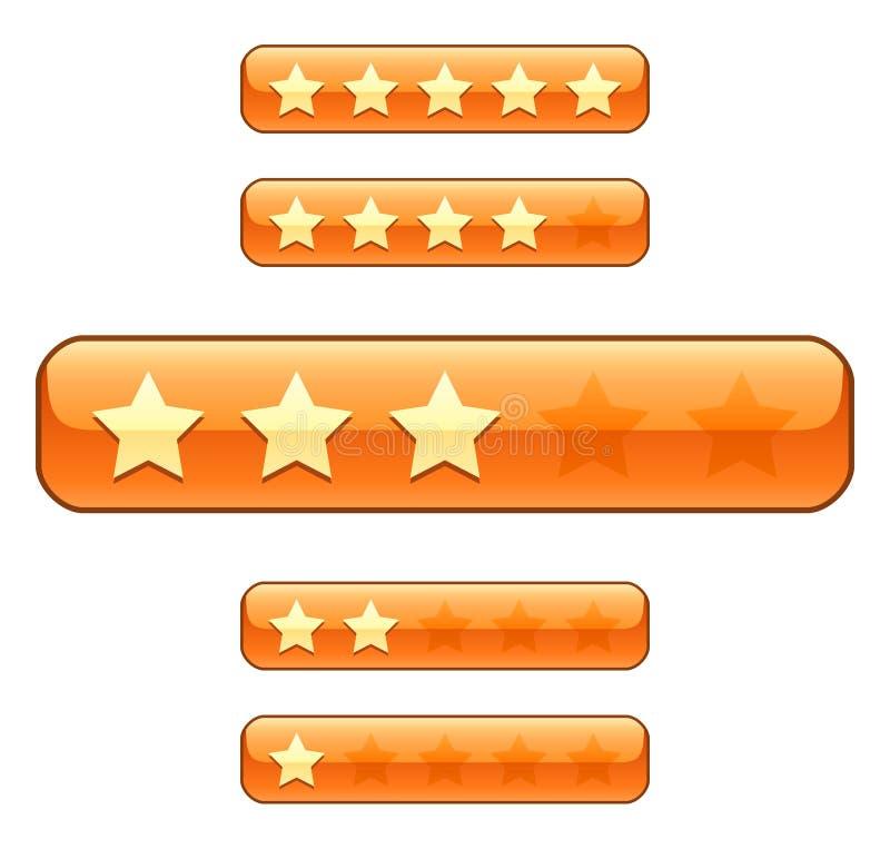 Bars de notation avec des étoiles illustration stock