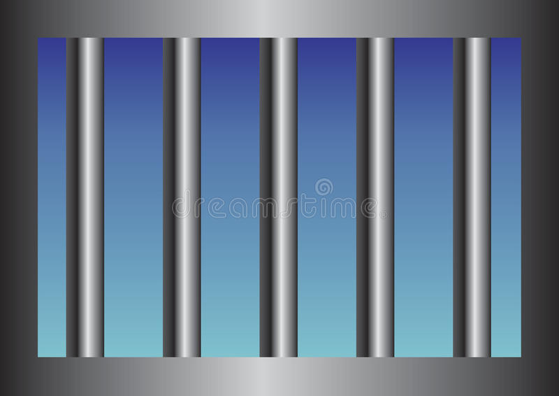 Bars de prison illustration stock