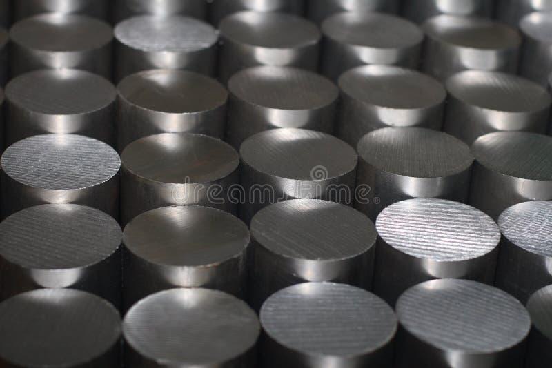 Bars en acier ronds photographie stock