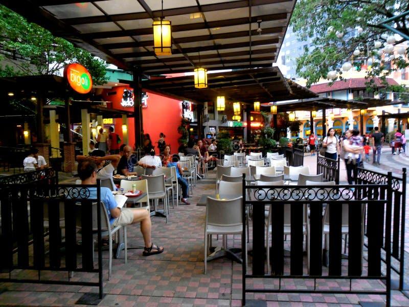 Bars en restaurant in Eastwood City royalty-vrije stock afbeelding