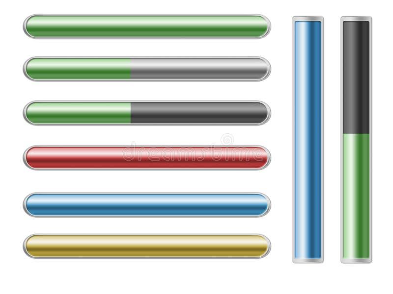 bars färgrik progress vektor illustrationer