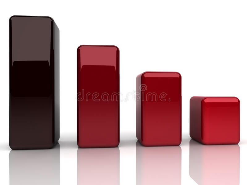 Bars with fall. Illustration of abstract red bars (fall concpet stock illustration