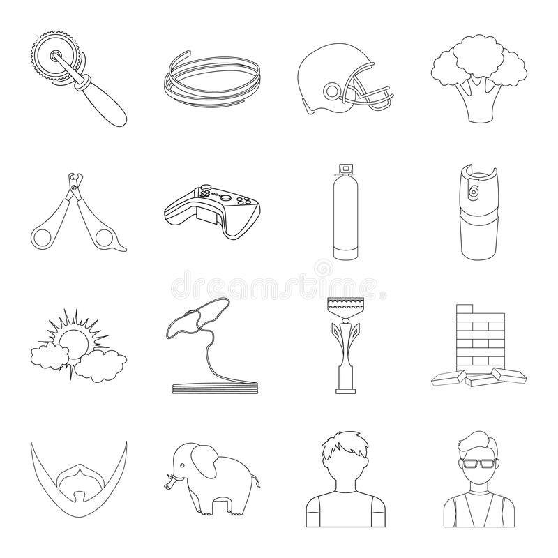Bars, glasses, teacher and other web icon in outline style.Gas, table, cubes icons in set collection. vector illustration