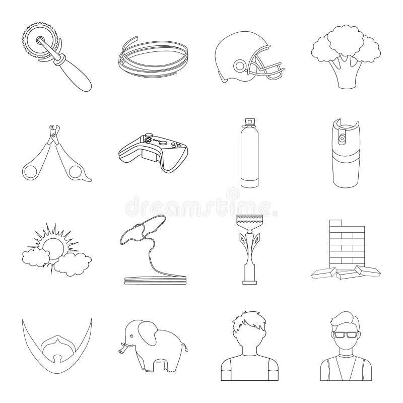 Bars, glazen, leraar en ander Webpictogram in overzichtsstijl Gas, lijst, kubussenpictogrammen in vastgestelde inzameling vector illustratie