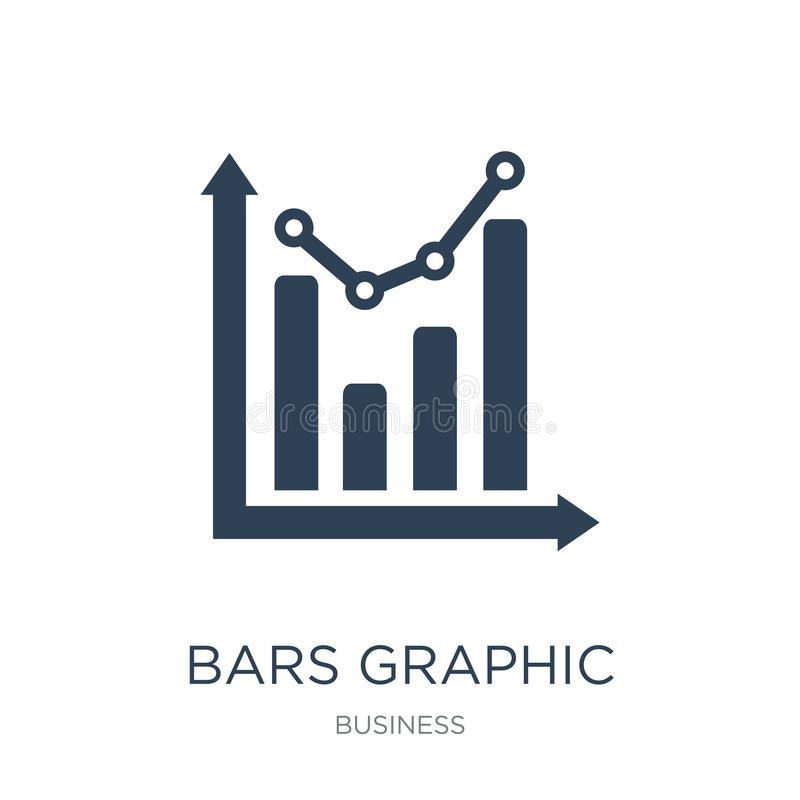 bars grafisch pictogram in in ontwerpstijl bars grafisch die pictogram op witte achtergrond wordt geïsoleerd eenvoudig bars grafi stock illustratie