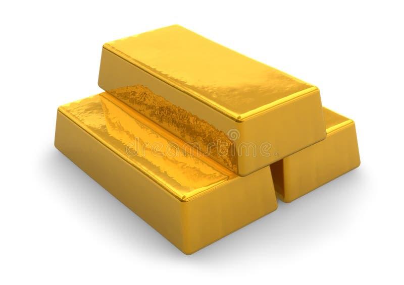 bars guld stock illustrationer