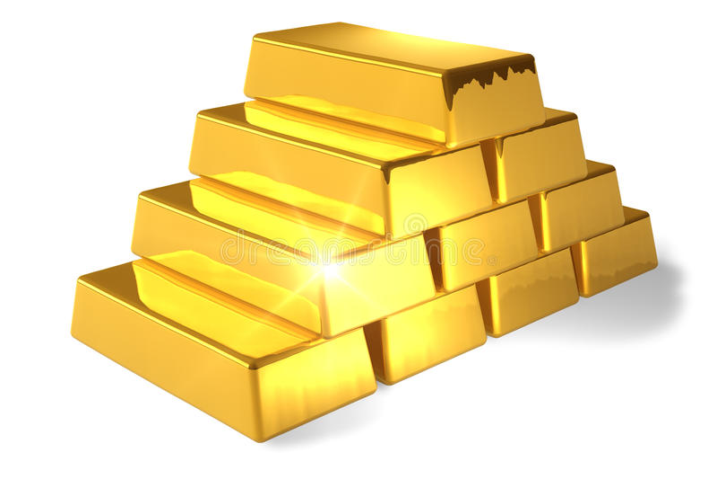 bars guld royaltyfri illustrationer
