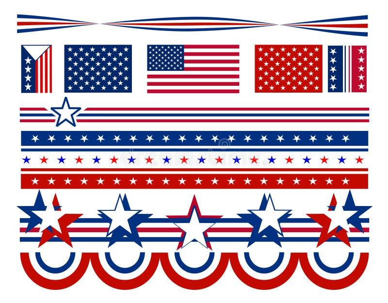 bars patriotiska stjärnor USA vektor illustrationer