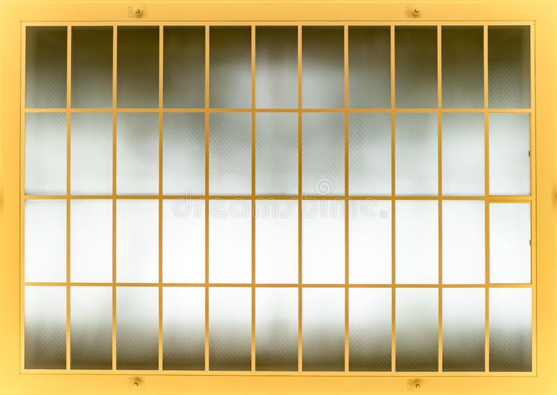 Bars on the window with a view of the sky royalty free stock photo