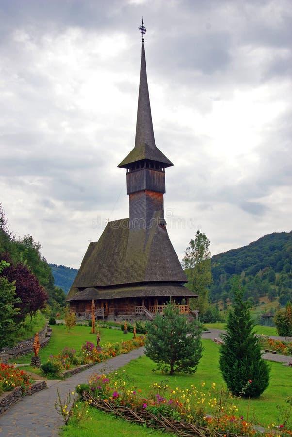 Barsana Kloster: hölzerne Kirche stockbild