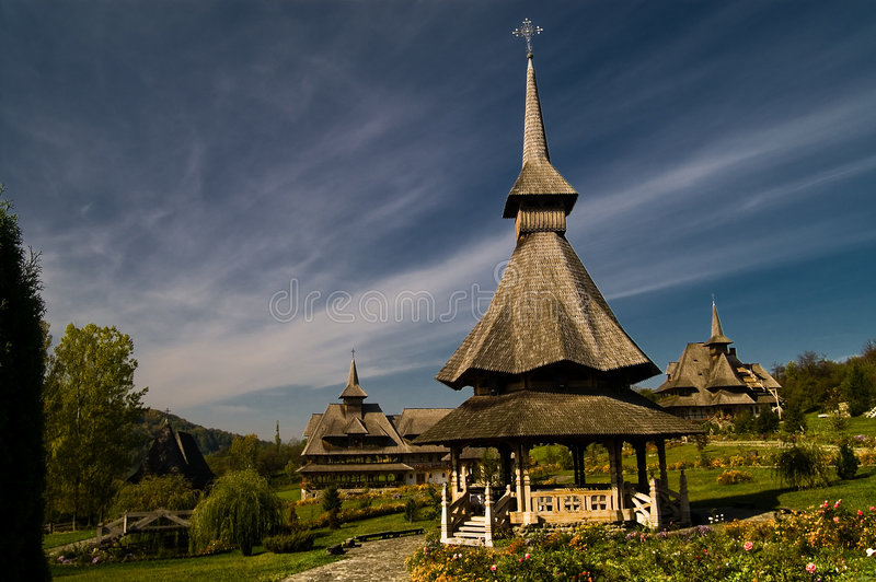 Barsana Monastery royalty free stock photography