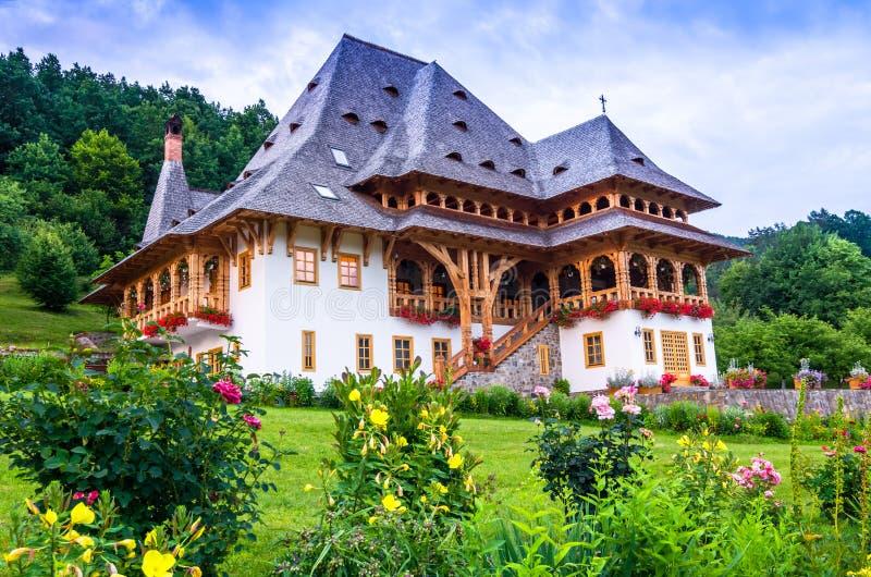 Barsana monastery complex, Maramures royalty free stock photography