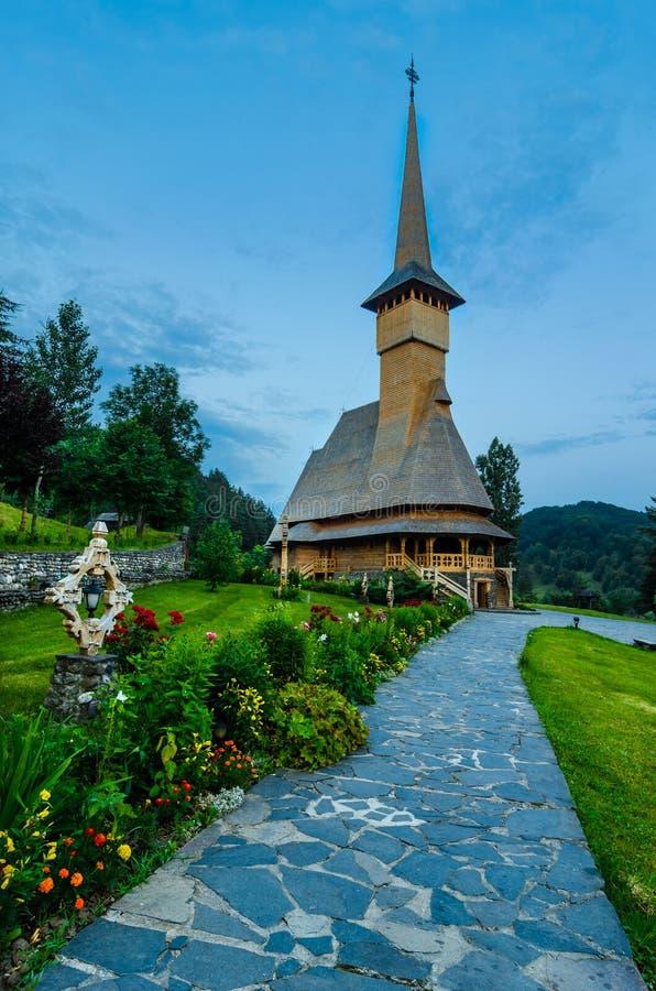 Barsana monastery complex in Maramures royalty free stock photo