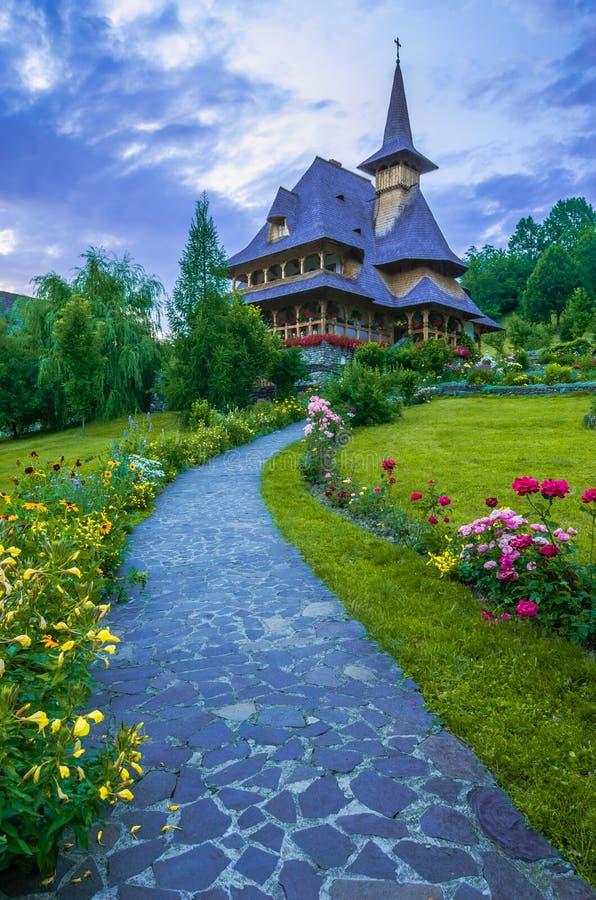 Barsana monastery, Maramures royalty free stock photo