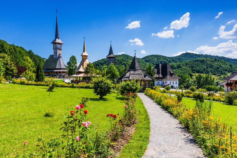 Barsana, Roumanie images libres de droits