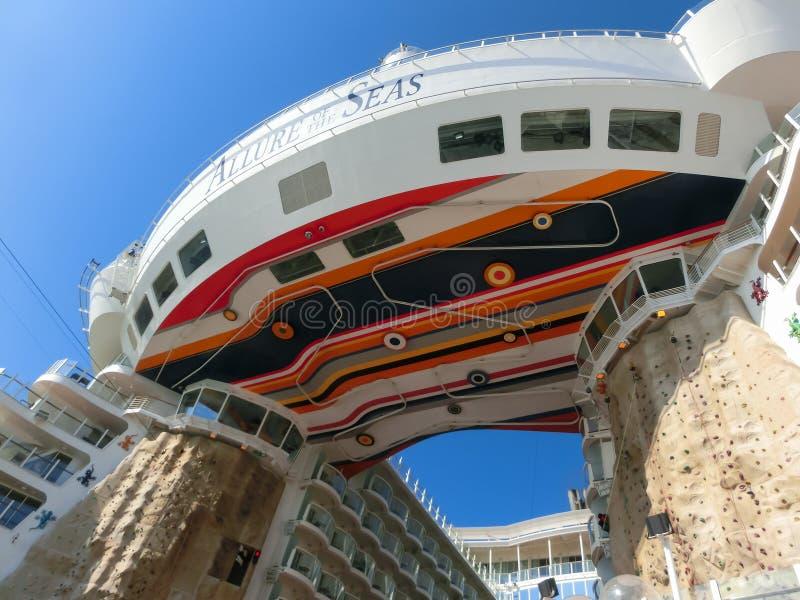 Barselona, Spaine - September, 6 2015: Royal Caribbean, Allure of the Seas stock photo