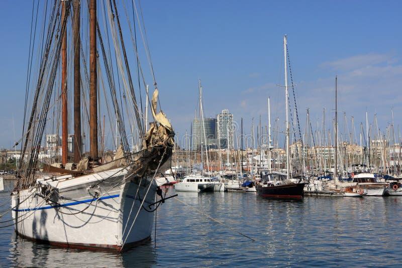 barselona statki przesyła statki obraz royalty free