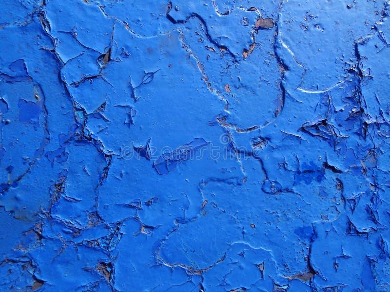 Barst en schade op geschilderde textuur stock afbeelding