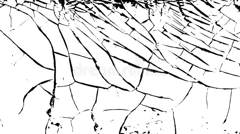 Barsten op de oppervlakte van de witte oude verf Gebarsten achtergrond Vector illustratie vector illustratie