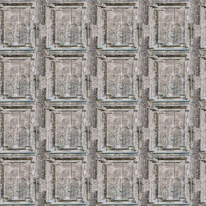 Barstende en pellende verf op een muur Houten naadloze textuur royalty-vrije stock afbeeldingen
