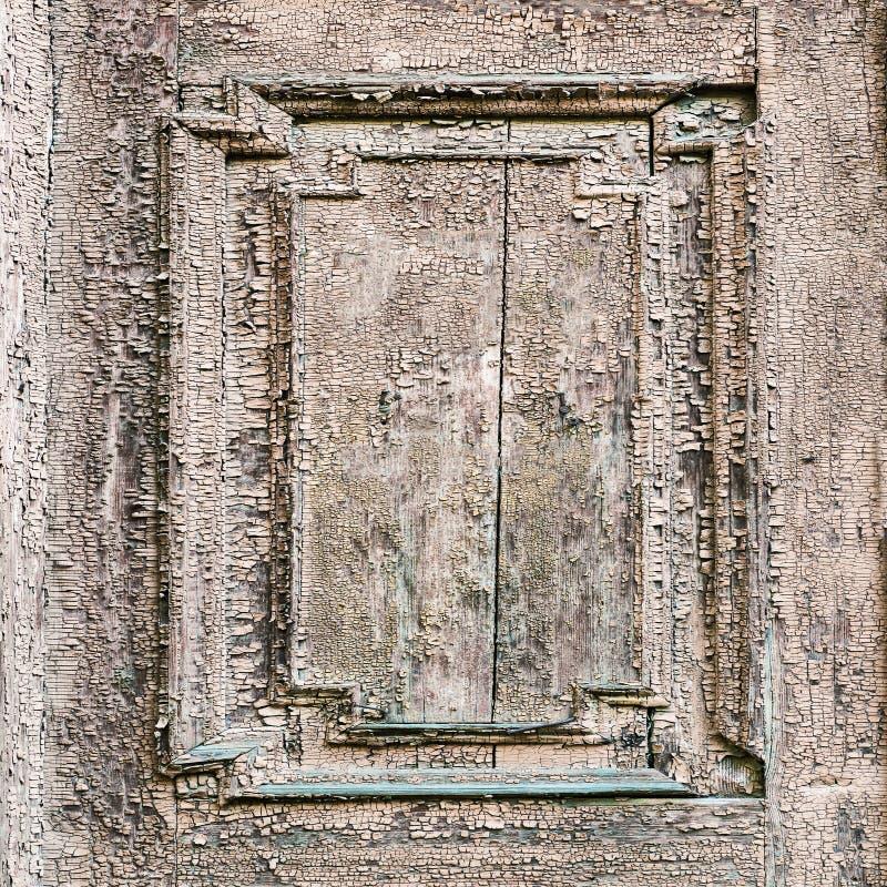Barstende en pellende verf op een muur Houten naadloze textuur stock fotografie
