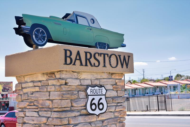 Barstow City Limits sign. Barstow, Usa - July 26, 2017: Barstow City Limits sign in California stock photo