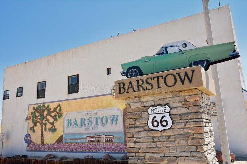 Barstow City Limits sign. Barstow, Usa - July 26, 2017: Barstow City Limits sign in California stock photos
