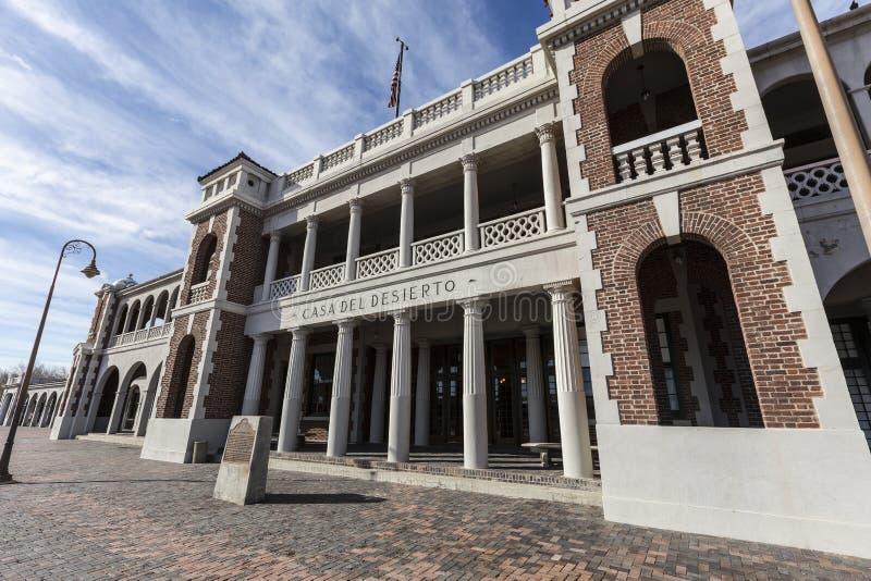 Barstow Harvey House Train Station Plaza histórico imagens de stock royalty free