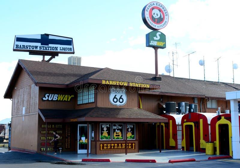 Barstow station, San Bernardino, Kalifornien royaltyfri foto