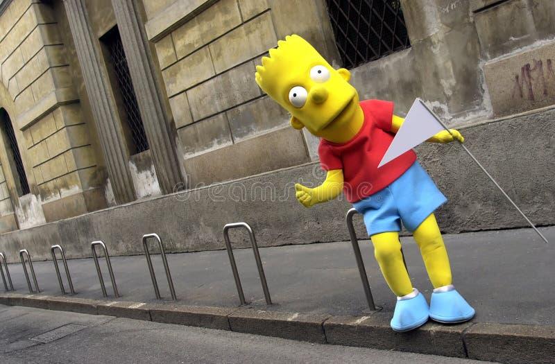 Bart Simpson grandeur nature image libre de droits